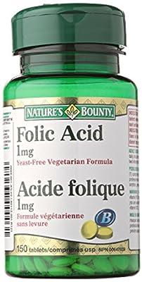 Nature's Bounty Folic Acid 1mg  150 count