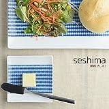美濃焼 miyama. seshima-瀬縞(せしま)- 9cm豆皿 絞り柄