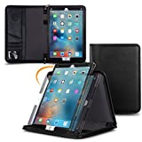 Apple iPad Pro 12.9 Case, rooCASE Premium Genuine Executive Portfolio Case Cover with Apple Pencil Holder for Apple iPad Pro 12.9-inch Tablet (2015), Black