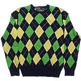 (ポロ ラルフローレン) セーター メンズ カシミア混 アーガイル 紺 ネイビー Polo Ralph Lauren SWEATER 570[並行輸入品] S