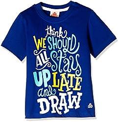 UFO Boys' T-Shirt (AW-16-KF-BKT-213_True Blue_8 - 9 years)
