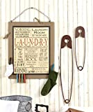 Laundry Room Decor Set of 3 Normal Around Here Is Just a Setting on the Dryer Wooden Sign and Set of 2 Huge Metal Safety Pins
