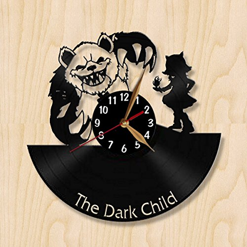 LoL Annie and her Bear Tibbers Wall Clock 12 inch (30cm) / Laser cut / League of Legends Champions Wall Decor / Recycled Vinyl Record (Black middle - Arabic) (Champions League 15 Album compare prices)