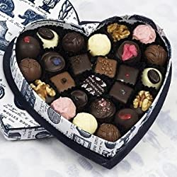 Rococo Heart Box no. 2 with mixed chocolates