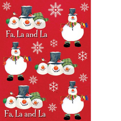 Christmas Snowman Carols - Sticker Sheets (4 count) Party Accessory - 1