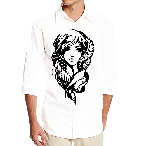 DonSir Fantasy Girl Men Long Sleeve Casual Shirt S White (Micro View Camera compare prices)