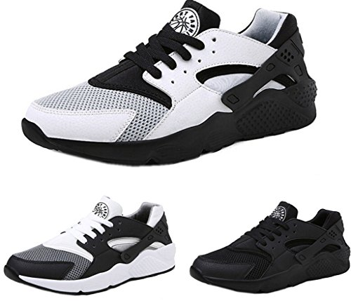 DADAWEN Men's Casual Lightweight Sports Running Shoe Black US Size 8 (Cheap Shoes For Men compare prices)