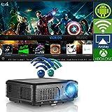 Wireless WiFi Projector, LCD LED Video Projectors 3200 Lumen 200