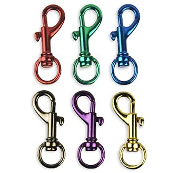 Set A Shopping Price Drop Alert For 6 Bright Colors Aluminum Spring Snap Hook Set 1-1/2