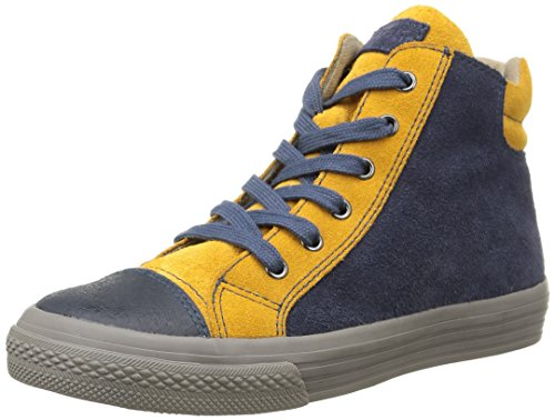 Garvalin  York,  Sneaker ragazzo Blu Bleu (A Vaquero/Mostaza/Serraje) 28