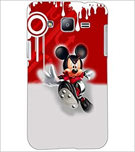 PrintDhaba Running Mickey D-3512 Back Case Cover for SAMSUNG GALAXY J2 (Multi-Coloured)