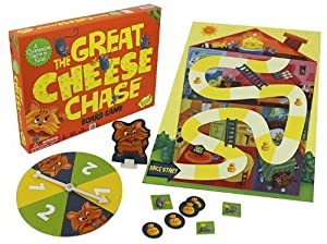 Kid's Board Game - The Great Cheese Chase By Peaceable Kingdom - The Cooperative Educational Game All About Fun