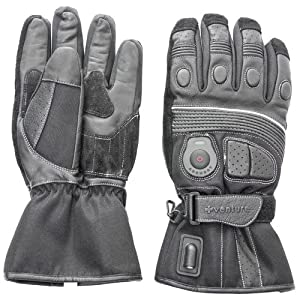 Venture Heat 12V Heated Motorcycle Gloves (Black, Medium)