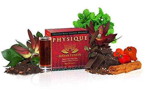 Chocolate Cinnamon Chai Pu-erh Tea (30-45 Cups) - Mayan Fusion Blend by Physique Tea - 15 Multi-Use Sachets (Mexican Hot Chocolate Pot compare prices)