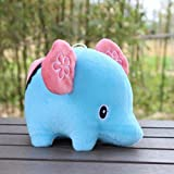 Gotd Cute Elephant Doll Plush Toy Doll Extra Soft Baby Children Gift Toys for 3 Years Old Girls (Blue)