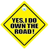 Yes I Do Own The Road Car Sign, Yes I Do Own The Road, Car Sign, Novelty Car Sign, Anti tailgater Car Sign, Baby on Board Sign, Decal, Bumper Sticker, Baby on Board, Road Rage, Road Sign, Bumper Sticker, Bad Driver Sign, Rude Car Sign, Joke Car Sign, Tailgaterby DRIVING iwantthatsign.com