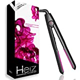[+2 Free Gifts ] Heiz-Professional Ceramic Flat Iron, Hair Straightening Iron, Versatile Function Hair Straightener with Free Heat Resistant Pouch/Heat Mat and Guard Cap for Beauty Enthusiasts, 1-Inch