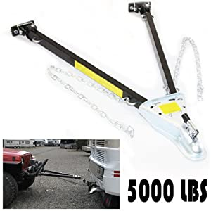 Adjustable Tow Bar Towing 5000 Lb Car Truck with Chains