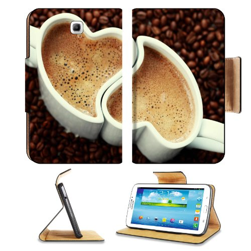 Love Coffee Hearts Lovers Mug Cup Samsung Galaxy Tab 3 7.0 Flip Case Stand Magnetic Cover Open Ports Customized Made To Order Support Ready Premium Deluxe Pu Leather 7 12/16 Inch (190Mm) X 5 5/8 Inch (117Mm) X 11/16 Inch (17Mm) Msd Galaxy Tab3 Cases Tab_7