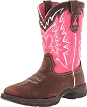 Big Sale Best Cheap Deals Durango Lady Rebel 10 Inch Pull-on RD3557 Western Boot,Dark Brown/Pink,9.5 M US