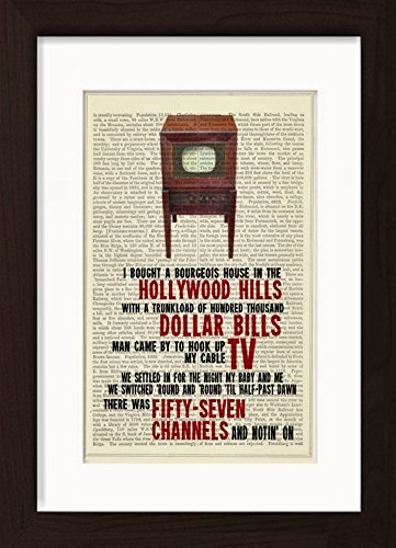 bruce-springsteen-inspired-57-channels-and-nothing-on-lyric-print
