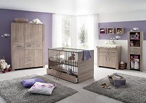 olek 7tlg babyzimmer kinderzimmer schrank wickelkommode. Black Bedroom Furniture Sets. Home Design Ideas