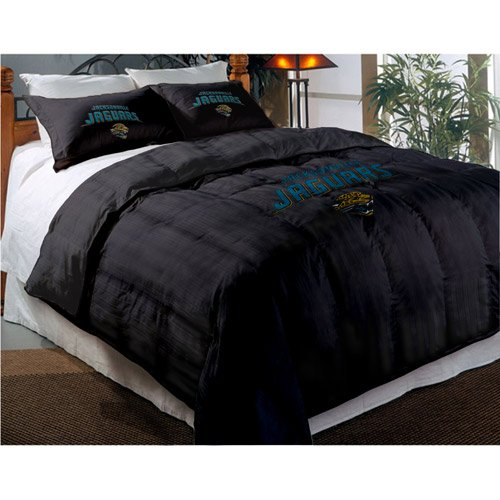 Jacksonville Jaguars Comforter Set: Twin Comforter with Shams