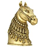 Indian Art Home Decorations Accessory Brass Horse Bust Gift Item 11 Inches