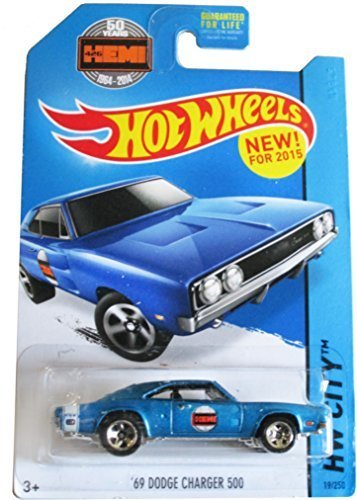 hot wheels hw city '69 dodge Charger 500 19/250 2015