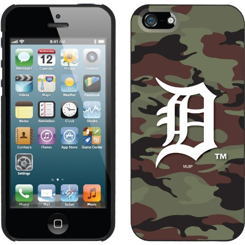 Best Price Detroit Tigers - Traditional Camo design on a Black iPhone 5 Thinshield Snap-On Case by Coveroo