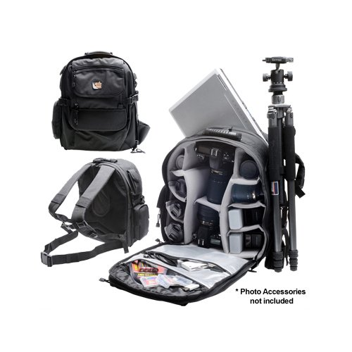Aktiv Pak AP400 Professional All Weather Multi Purpose Camera &amp; Photo/ Computer Laptop Backpack for Nikon D3000, D3100, D5000, D7000, D90, D300s, D3, D3s, D3x Digital SLR Camera