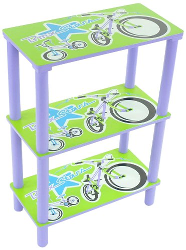 aniba Design Children shelf bookcase children's furniture - blue / green