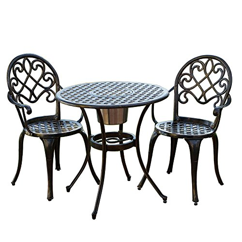 Cast-Aluminum-Brown-Bistro-Set-with-Ice-Bucket