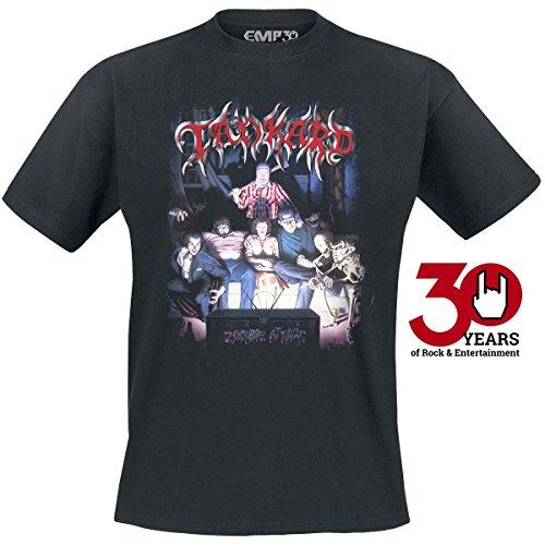 Tankard Zombie attack T-Shirt nero XXL