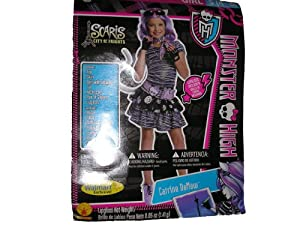 Monster High Halloween Costume Catrine DeMew Scaris Small (4-6)
