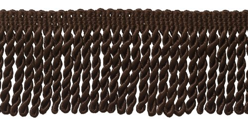2.5 Inch Bullion Fringe Trim, Style# EF25 Color: MOCHA - D2, Sold By the Yard