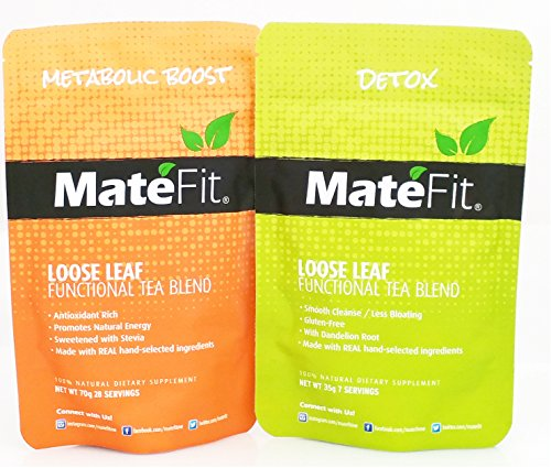 MateFit Weight Loss Detox Tea: Appetite Suppressant, Detox, Reduce Bloating & Increase Fat Burn, 14 day Teatox, Antioxidant Rich Infused Herbal Tea.