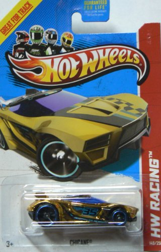 Hot Wheels 2013 Hw Racing Super Chromes Chicane Gold & Blue 149/250 - 1