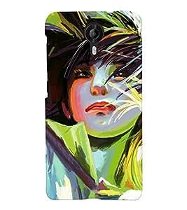 Chiraiyaa Designer Printed Premium Back Cover Case for Micromax Canvas Nitro 4G E455 (Girl women painting) (Multicolor)