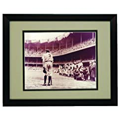 New York Yankee Babe Ruth Bows Out Framed 8x 10 Photo by Champion