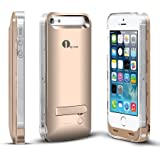 [Apple MFi Certified] 1byone® 2400mAh iPhone 5/5s Battery Case [Gold], Backup Battery Charger Case Extended Battery Life for iPhone 5 & 5s, Original Apple 8-Pin Connector, iOS 7 or above Compatible