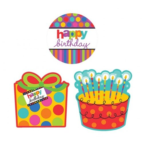 Bday Stripes Cutout Pack - 1