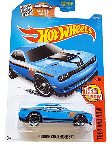 Hot Wheels, 2016 Then and Now, '15 Dodge Challenger SRT [Blue] Die-Cast Vehicle #109/250 (Dodge Challenger Srt Diecast compare prices)