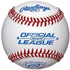 ROLB1X Practice Baseballs in Bucket (3 Dozen) by Rawlings