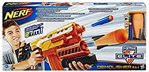 NERF N-Strike Elite Demolisher 2-in-1 Blaster and AmazonBasics batteries