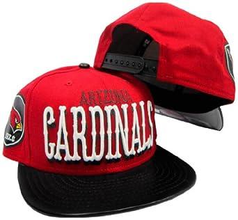 Arizona Cardinals Canvas Word Red Black Adjustable Snapback Hat Cap by New Era