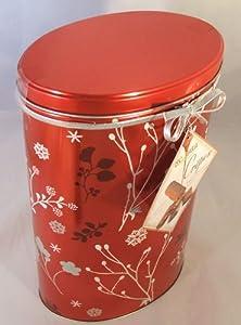 Loc Maria Milk Chocolate Crepe Belgian Chocolate Biscuits Christmas Hanukkah Holiday Gift Tin 18 Ounces