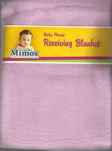 "Baby Fleece Receiving Blanket 30"" X 30"" Pink By Little Mimos - 1"
