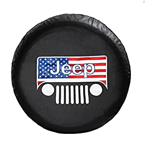 Amazon.com: Amooca JEEP WRANGLER,LIBERTY Spare Tire Cover ...
