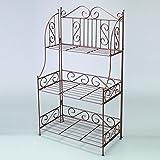 Shopper Decorative 3-Tier Bakers Rack, Various Colors, Metal
